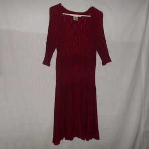 Max Studio Red Textured Sweater Dress Size XL